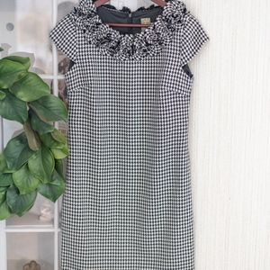 Macy's Taylor Black and White Houndstooth Dress